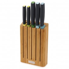 Elevate™ Knives Bamboo 5-piece Knife Set with Bamboo Block